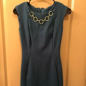 Teal and gold Calvin Klein dress